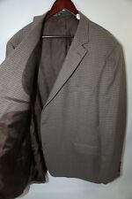#56 Hart Schaffner Check Fabric CUSTOM Two Button Blazer Jacket Size 52 L