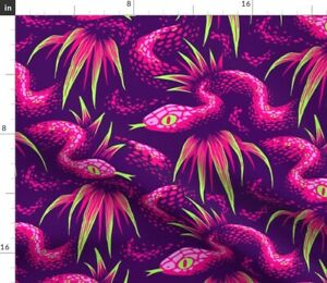 Tropical Rainforest Snake Foliage Rainforest A Spoonflower Fabric by the Yard