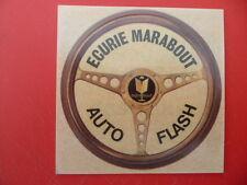 Autocollant publicitaire MARABOUT - Ecurie auto flash