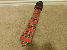Brand new Red and Green Dancing Elf feet men's tie