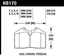 Hawk Performance HB170U.650 Unbeatable Pad And Rotor Wear Disc Brake Pads