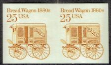 US: IMPERFORATE ERROR: 25c BREADWAGON pair (2136a) !! PERFECT and SCARCE