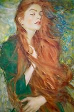 Original Oil on Canvas Roxanne #1 Canvas size 18 x 24 inches by Brian Haberlin