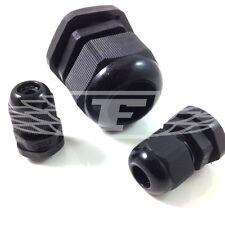 Pg07 Cable glándula Negro Resistente Al Agua Ip68 Cable glándulas de bloqueo NUTS Nylon Pc3