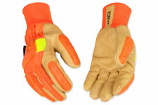 Kinco 1938KWA-L Impact Protection High Visibility Lined Pigskin Gloves, Large