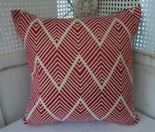 Red Jacquard Damask Textured Cotton Blend Cushion Cover 45