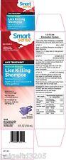Smart Sense Lice Killing Shampoo Maximum Strength 8 fl oz (236 ml) Comp to Rid