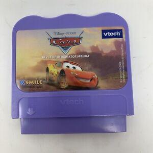 Vtech V Smile Video Game Disney Pixar Cars rev it up in radiator springs working