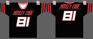 MOTLEY CRUE Football Jersey 1X 52 XL shirt