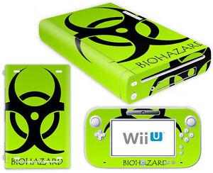 Nintendo Wii U Skin Design Foils Sticker Screen Protector Set - Biohazard Motif