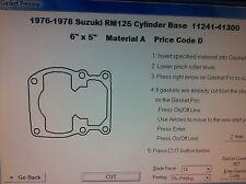 Suzuki RM125  Cylinder Base Gasket  1976 1977 1978