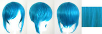 12'' Bob Cut Short Peacock Blue Synthetic Cosplay Wig NEW