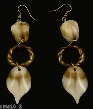 Fawn & Natural Colour Drop Earrings CJE292