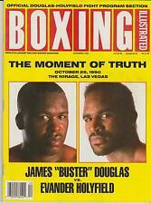 BOXING ILLUSTRATED MAGAZINE JAMES BUSTER DOUGLAS-EVANDER HOLYFIELD DECEMBER 1990