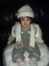 "Cathay Collection Sitting Porcelain Doll 22"" in Original Outfit 1 - 3000"