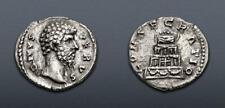 Divus Lucius Verus. Died AD 169. AR Denarius (17mm, 2.69 g, 11h). Consecratio
