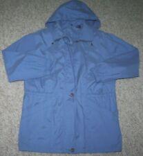 Hooded Jacket Aeros Blue Women's Coat Medium Woman's Lined Solid Polyester Nylon