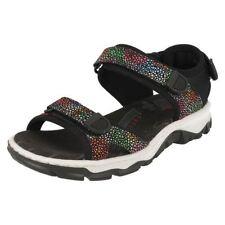 Sandali e scarpe neri sintetici marca Rieker per il mare da donna