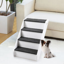 Pet Stairs 4 Steps Portable Cat Dog Play Ladder Step Ramp Climb Foldable White