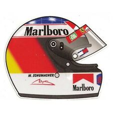 M. SCHUMACHER helmet right Sticker droit
