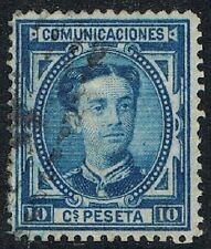 [CF4102] España 1876, Alfonso XII, 10 cent., matasellado (c)