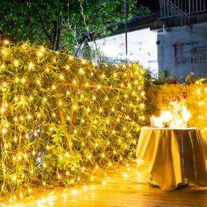 3x2m LED Fairy Mesh Net Lights Curtain String Wedding Party Outdoor Xmas Decor