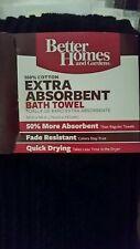 NEW with Tags Better Homes Gardens Thick & Plush Solid Bath Towel BLACK 30 x 54