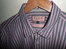 "THOMAS PINK London Mens Casual Shirt 100% Cotton Button Cuff SIZE MEDIUM 15.5"""