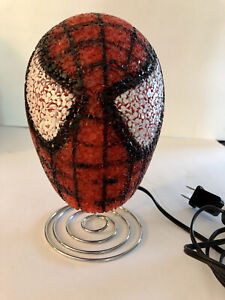 Marvel Spider-Man Bedroom Table Lamp Night Light Spider Man Bobble Head