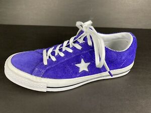 Unisex Converse Chuck Taylor Raw Suede One Star Mens 7 Womens 9 Purple 161239C