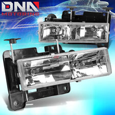 FITS 88-98 GMC SIERRA CHEVY SILVERADO C/K TRUCK 1500/2500/3500 CHROME HEADLIGHTS