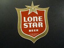 LONE STAR lonestar NOS Vintage Logo STICKER decal craft beer brewery brewing