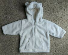 Baby Gap Winter White Fleece Hoodie with Ears, Newborn, 6-12 Months
