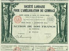 FRANCE TREE TAPPING COMPANY stock certificate 1932