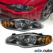For 2000-2005 Chevy Monte Carlo/SS Black Headlights Replacement Lamps Pair
