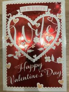 For My Beautiful Wife Happy Valentine's Day Card Brand New