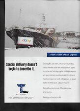 TOTE MARITIME ALASKA 2014 OCEAN TRAILER EXPRESS WESTWARD VENTURE FREIGHTER AD