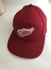 Detroit Red Wings Cap By Mitchell & Ness Snapback Hat Logo Wool