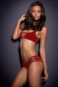 Fashion Women 2pcs Bandeau Sexy Bikini Red - S, M & L