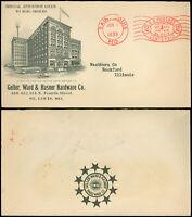 1933 St. Louis Cds, GELLER WARD HASNER HARDWARE Advert to Ill, PERMIT METER MAIL
