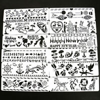 12x Bullet Journal Stencil Set Planner DIY Drawing Template/Diary Craft 20*5.7cm