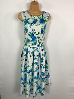 BNWT WOMENS DOLLY & DOTTY ANNIE FLORAL 50'S VINTAGE ROCKABILLY SWING DRESS UK 10