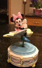 Disney Minnie Mouse On Butterfly Carousel Schmid Music Box - Minnie's Yoo Hoo