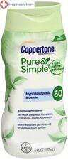 Coppertone Pure & Simple Sunscreen SPF 50 Sunscreen 6 oz