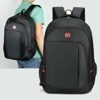 New Fashion Mens Large Waterproof Travel Bag Black School Backpack Laptop Bag BL