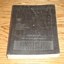 Original 1986 Cadillac DeVille and Fleetwood Service Shop Manual 86