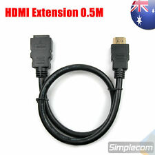 50cm HDMI Extension Cable Type a Male to Female 0.5m Short HDMI Lead V1.4 3d
