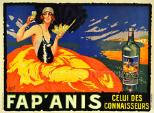 FAP ANIS Vintage French Liquor Advertising Giclee Canvas Print 28x20