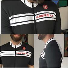 Castelli Short Sleeve Warm Weather Cycling Jersey - XL, BLACK