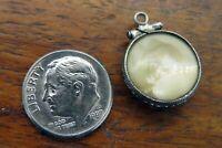 Vintage sterling silver LOCKET PHOTO HOLDER KEEPSAKE MOVABLE 3D BRACELET charm